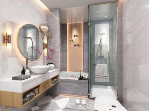 现代浴室卫生间3D模型【ID:927823590】