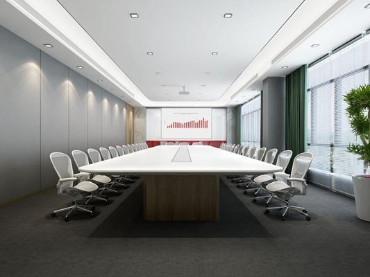 现代会议室3D模型【ID:728062886】