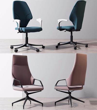 现代办公椅组合3D模型【ID:227889980】