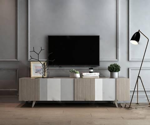 北欧电视柜3D模型下载【ID:919428093】