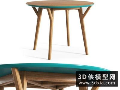 現代圓桌國外3D模型【ID:729442767】