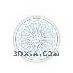 d石膏圆花sdown-27-3DS格式3D模型【ID:26786】