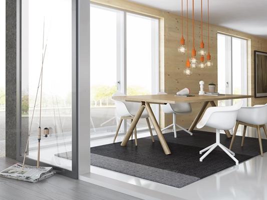 现代会议办公会议台椅子组合3D模型【ID:26833135】