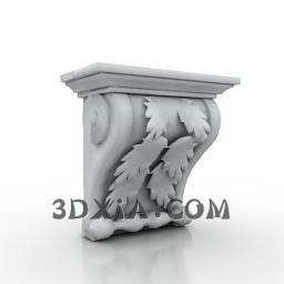d柱头sdown-38-3DS格式3D模型【ID:26837】