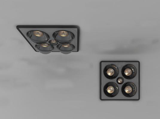 现代浴霸3D模型【ID:26867750】