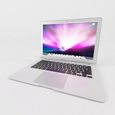 苹果笔记本电脑苹果3D模型【ID:26891366】