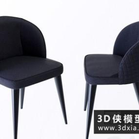 现代餐椅国外3D模型【ID:729513898】