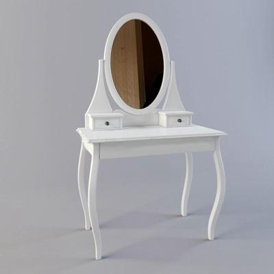 欧式带镜梳妆台现代简约3D模型【ID:26915561】