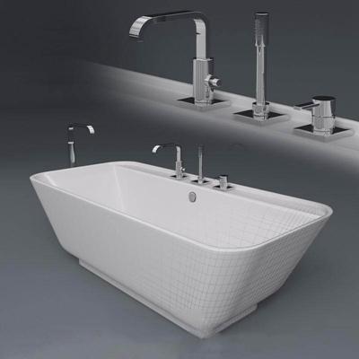 浴缸3卫浴3D模型【ID:26934102】