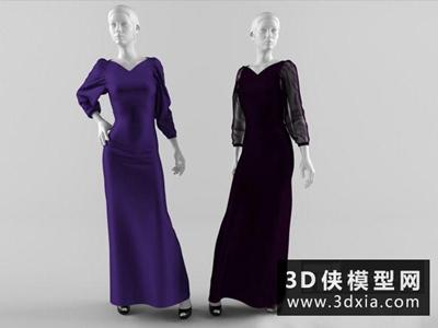 模特國外3D模型【ID:929643630】
