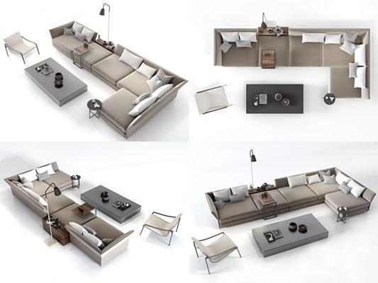 北欧沙发组合3D模型【ID:26960449】