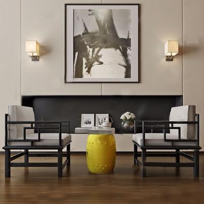 新中式椅子3D模型【ID:26960747】