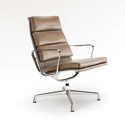 现代皮革办公椅3D模型【ID:26965497】