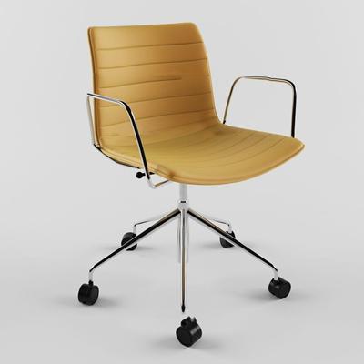现代皮革办公椅3D模型【ID:26965890】
