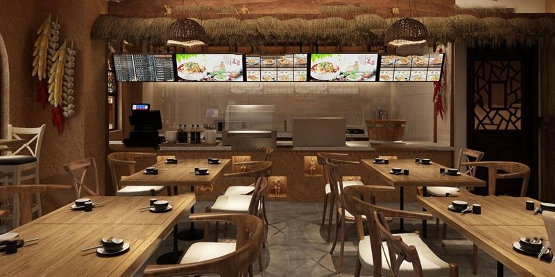 现代民宿主题餐厅3D模型【ID:26967757】