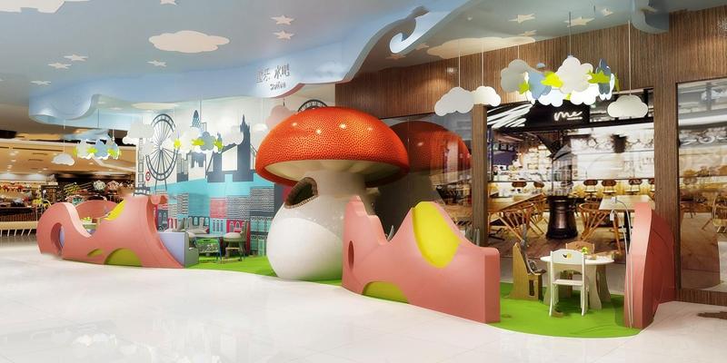 现代商场儿童休闲区游乐园3D模型【ID:26980791】