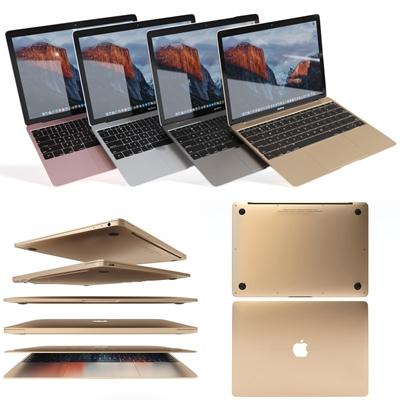 现代苹果笔记本手提电脑3D模型【ID:26986061】
