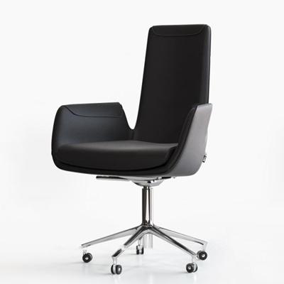 现代皮革办公椅3D模型【ID:26987298】