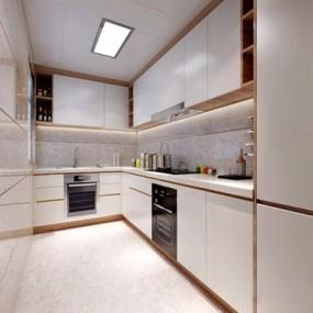 现代厨房3D模型【ID:528031094】