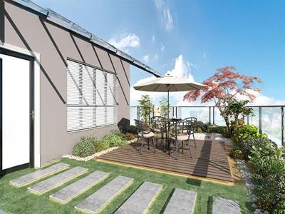 現代別墅露天花園3D模型【ID:550471665】