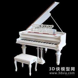 欧式钢琴国外3D模型【ID:229846055】
