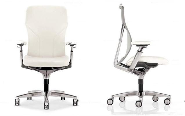 现代皮革办公椅3D模型【ID:27002196】