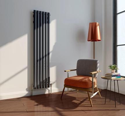 现代休闲椅落地灯暖气片组合3D模型【ID:27007645】