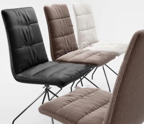 现代皮革办公椅3D模型【ID:27008098】