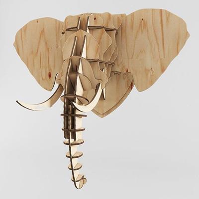 北欧积木大象墙饰挂件3D模型【ID:27024725】