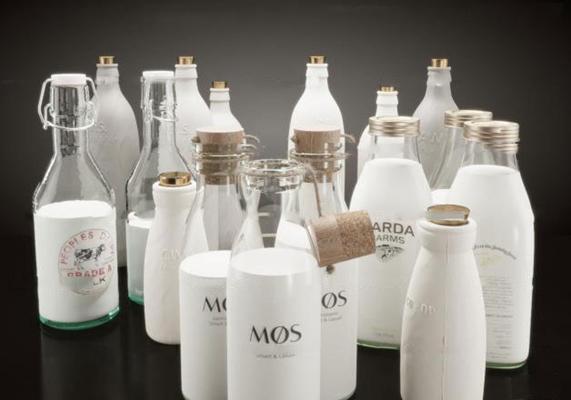 现代纯牛奶木塞玻璃瓶罐3D模型【ID:27027654】