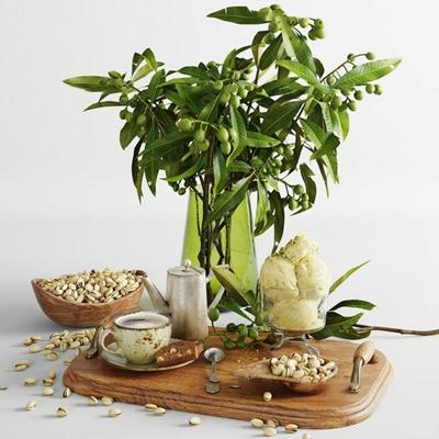 现代橄榄果面包瓜子餐具组合3D模型【ID:27039495】