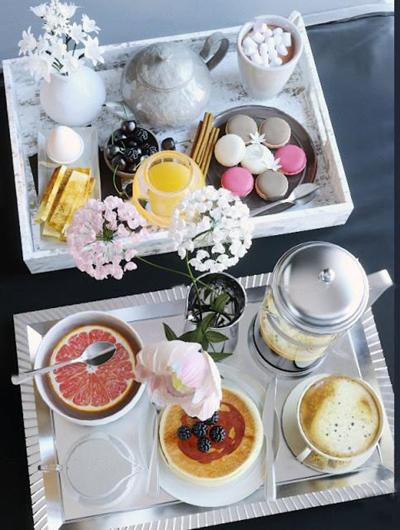 现代咖啡果汁甜点花瓶组合3D模型【ID:27041091】