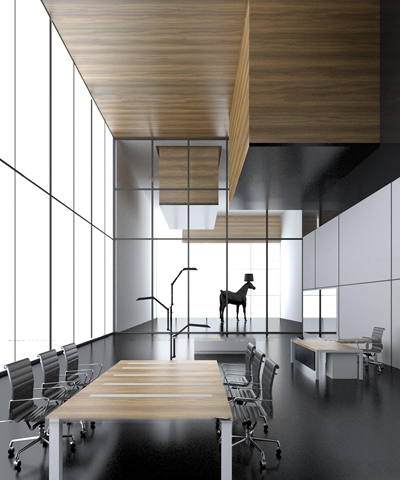 现代会议桌班台3D模型【ID:27044331】