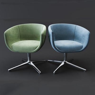 现代布艺办公休闲椅3D模型【ID:27055793】