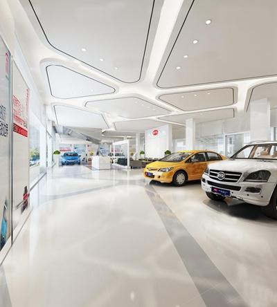 现代汽车4S店展厅3D模型【ID:27060096】