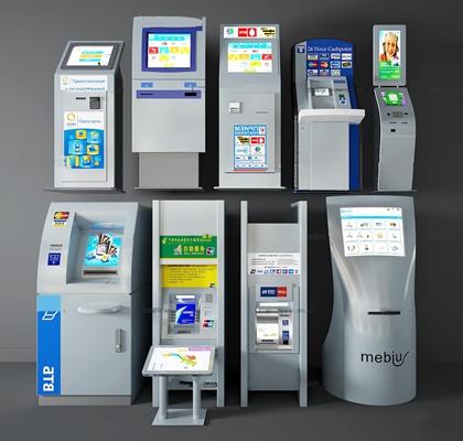 现代自助机ATM取款机3d模型【ID:27069977】