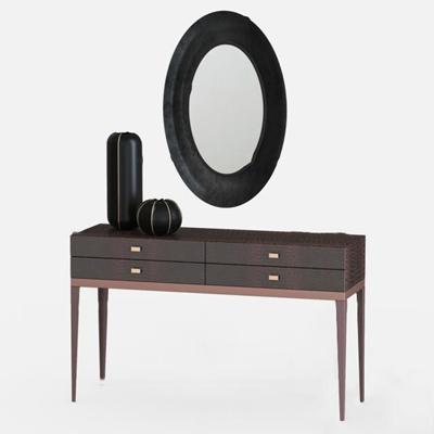 现代梳妆台镜子组合3D模型【ID:27078062】