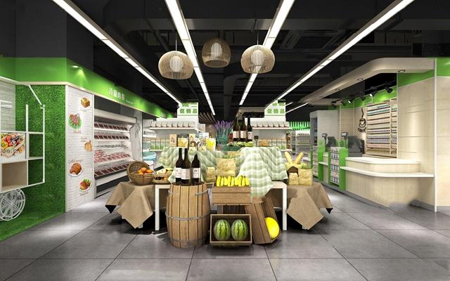 现代超市3D模型【ID:27078799】