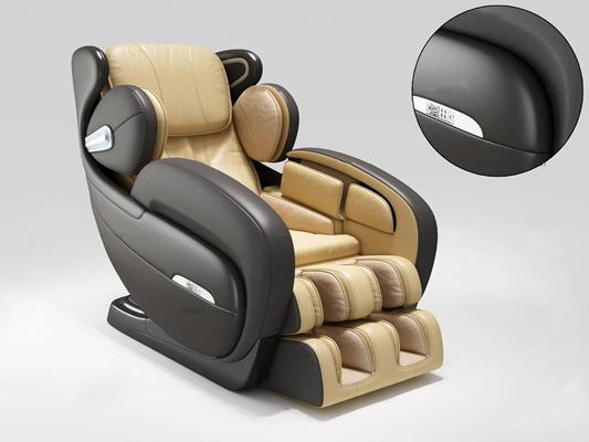 现代皮革按摩椅3D模型【ID:27079248】