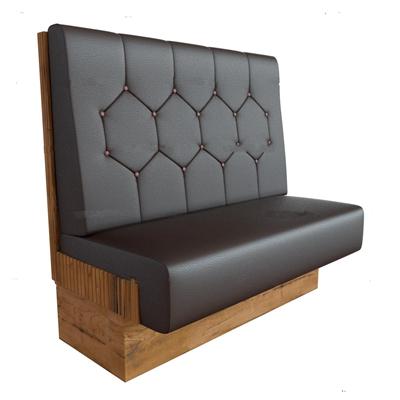 现代皮革餐厅卡座沙发3D模型【ID:27082648】