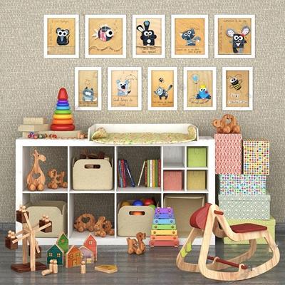 儿童房家具3D模型【ID:27086211】