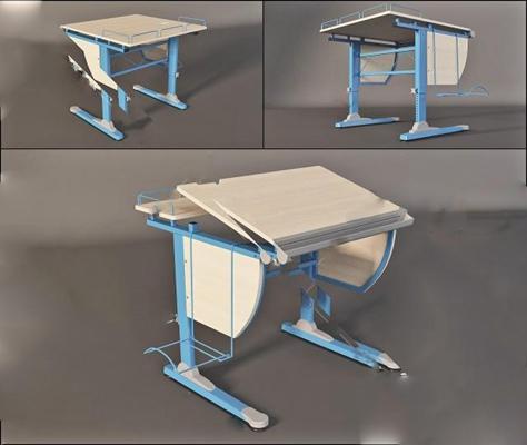 儿童书桌3D模型【ID:27089112】