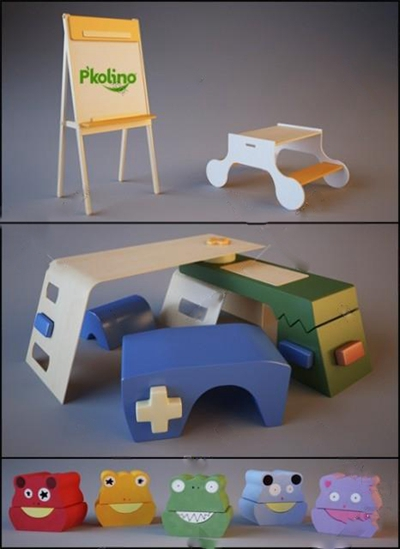 儿童桌3D模型【ID:27091210】