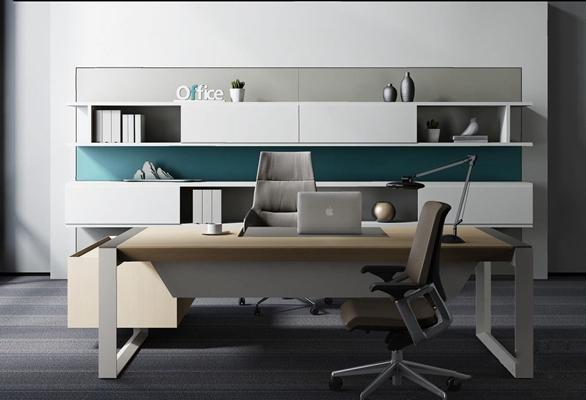 现代老总办公室3D模型【ID:27099293】