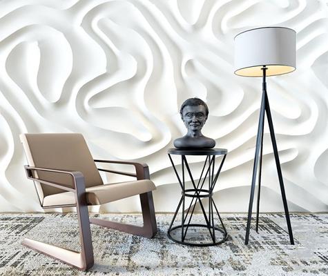 北欧休闲单椅3D模型【ID:27100741】