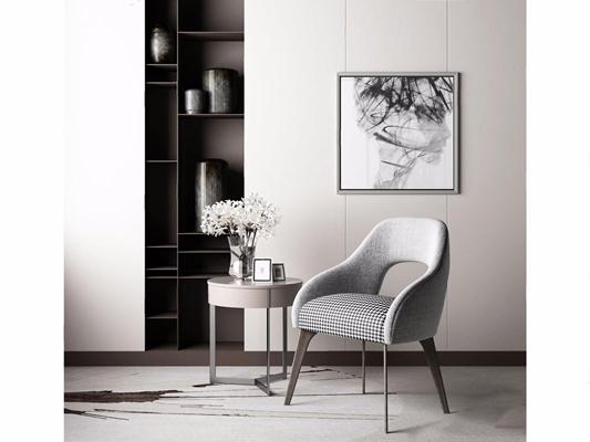 现代椅子3D模型【ID:27123446】