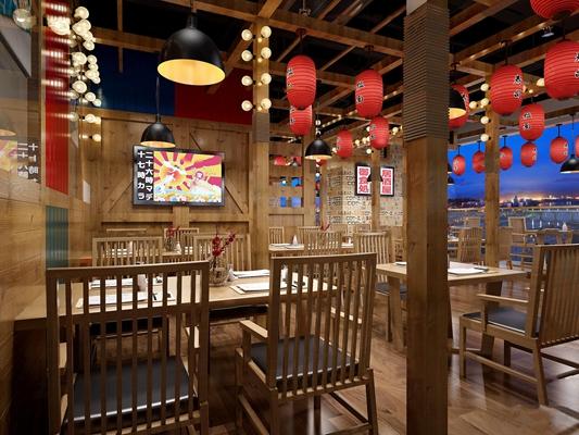 日式餐厅3D模型【ID:27160792】