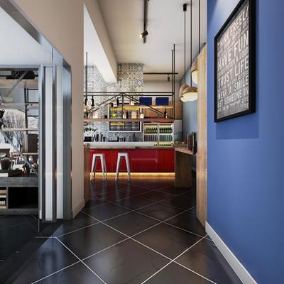 工业风餐厅咖啡厅3D模型【ID:27160898】