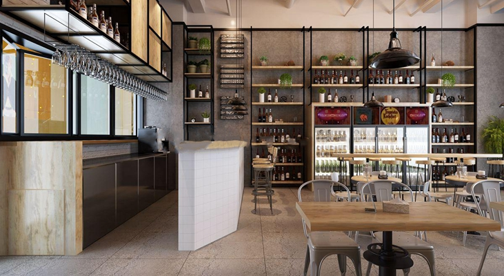 工业风咖啡吧酒吧3D模型【ID:27160991】