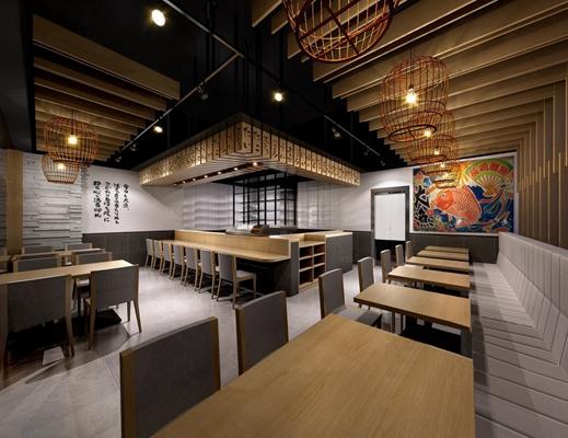 日式寿司店下载3D模型【ID:27162194】